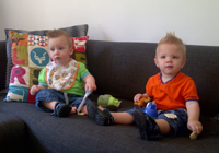 Ashton (L) and Quade (R) Jearey (twins 9 months)