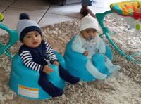 Giaan and Dante Mooloo (twins 5 months)