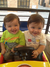 Mark and Luke Veliades (twins 6 months)