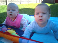 Ruben and Miane Truter (twins 6 months)