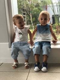 Jude and Sadie Segal (twins, 15 months)