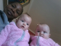 Virginia, Kimberley and Jessie Bouwer (6 months)