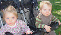 Isabella and Sebastian Tholet (twins, 13 months)